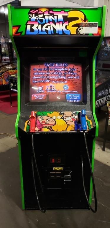 POINT BLANK 2 TARGET SHOOTER UPRIGHT ARCADE GAME