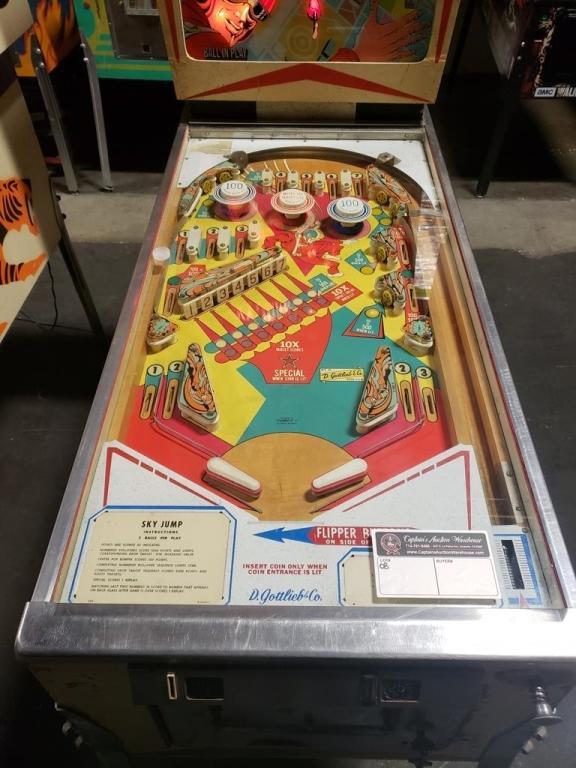 Sky Jump Wedge Head Pinball Machine Gottlieb 1973 Price Estimate